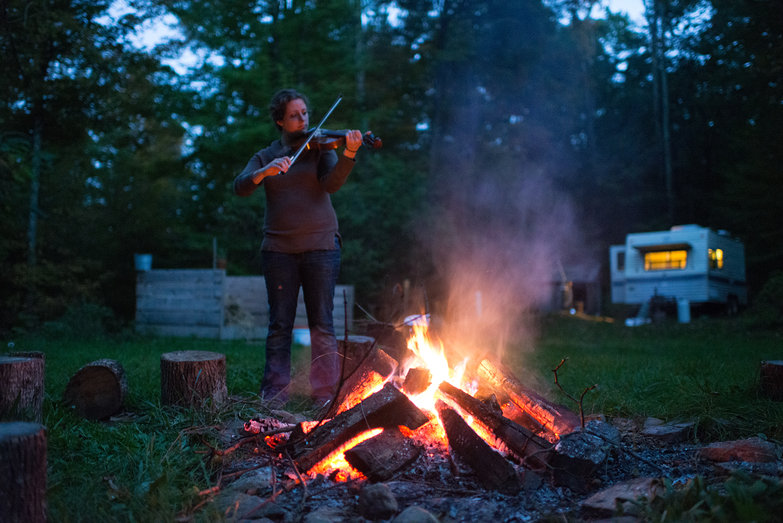 Tara Fiddling by the Fire