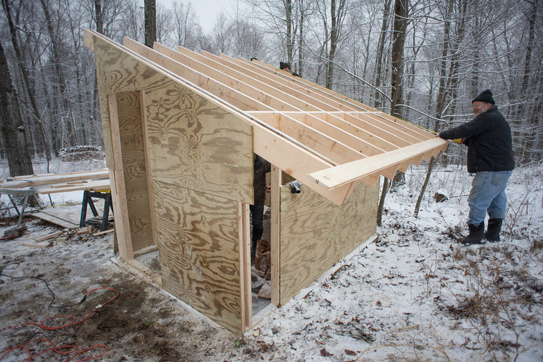 Solar Shed in Progress