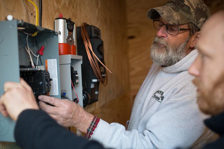 Mark & Tyler Assembling Solar Charging System