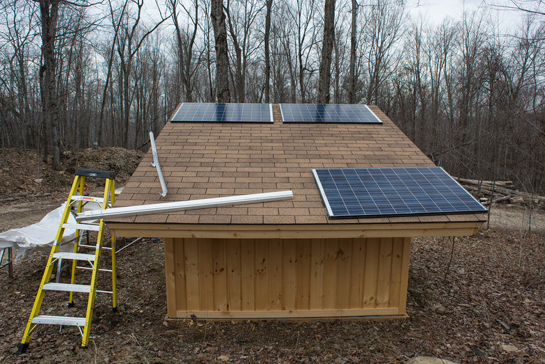 Determining Solar Panel Layout on Solar Shed Roof