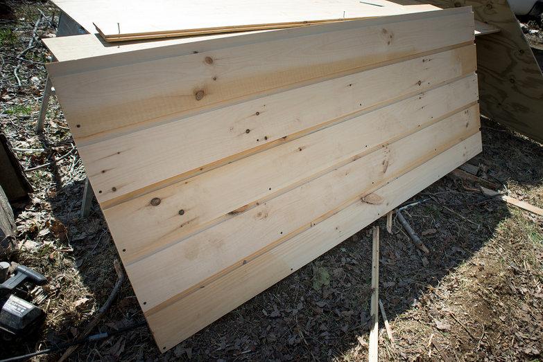 Making Solar Shed Door
