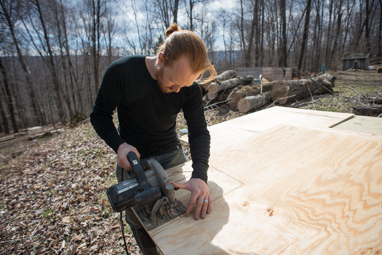 Tyler Cutting Electric Box Hole