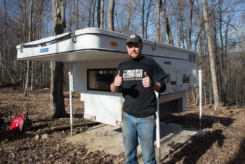 Ian Delivering Pete & Natasha's Truck Camper