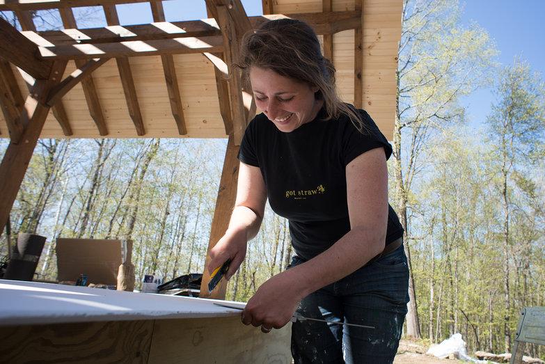 Tara Cutting Drywall