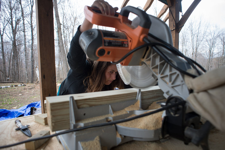 Tara Sawing Lumber for Pony Wall