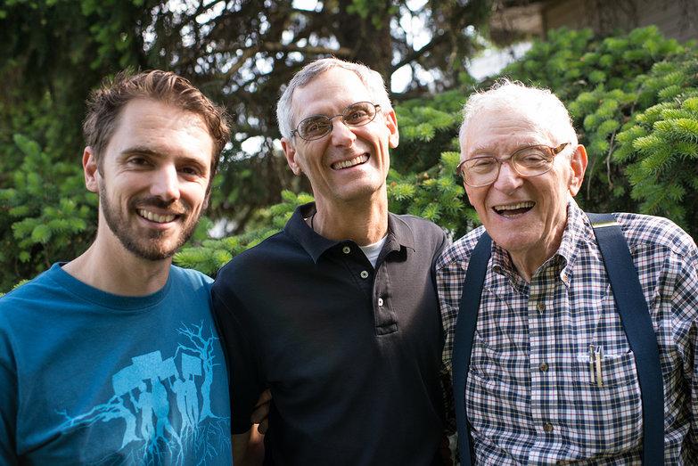 Grandpa Don, Lian & Dad (Mark) - Three Generations