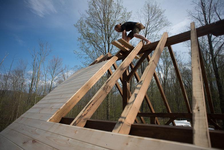 Tyler on Cottage Ridge Beam