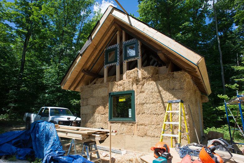 Straw Bale Cottage in Progress