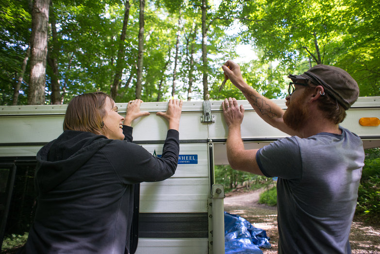 Pete & Natasha Opening Their Truck Camper for the First Time