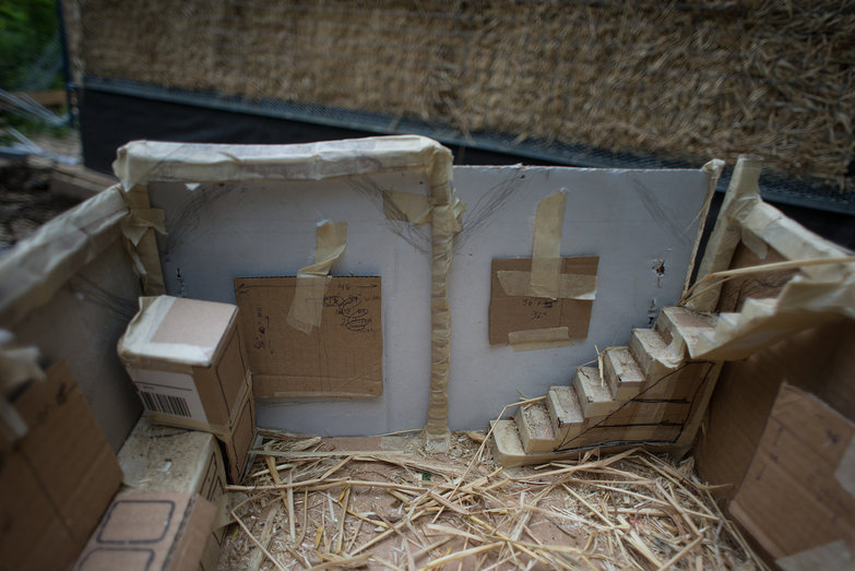 Straw Bale Cottage Cardboard Model