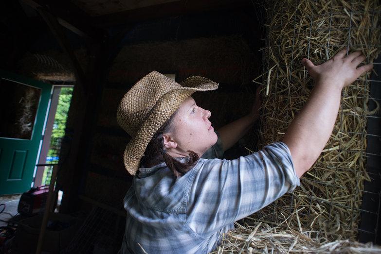 Jenna Stuffing Window Reveals with Straw