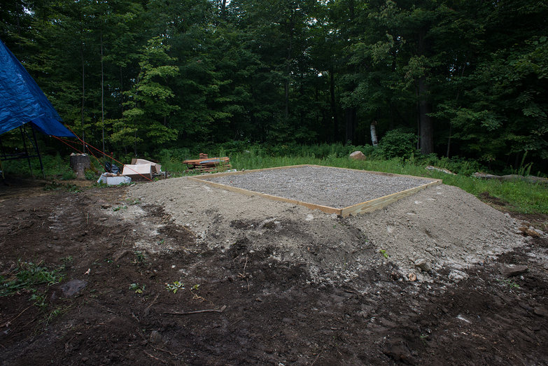 Wood Fired Hot Tub Pad Nearly Complete