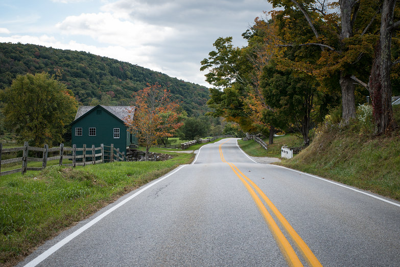 Country Road Outside Manchester, VT