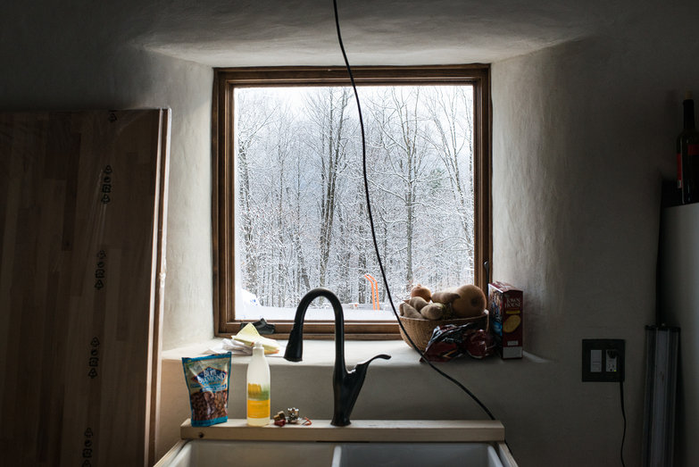 Kitchen Window View After Snowfall