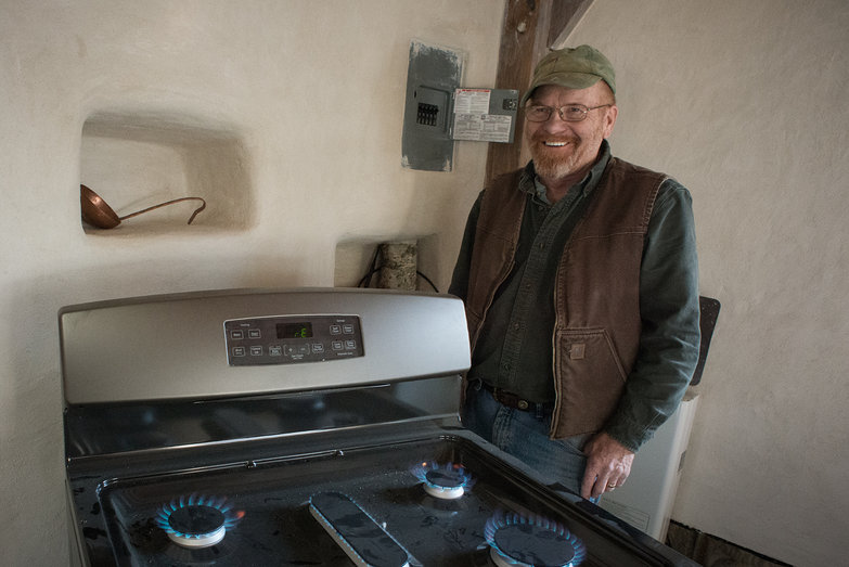 Rich After Completing Propane Range Installation