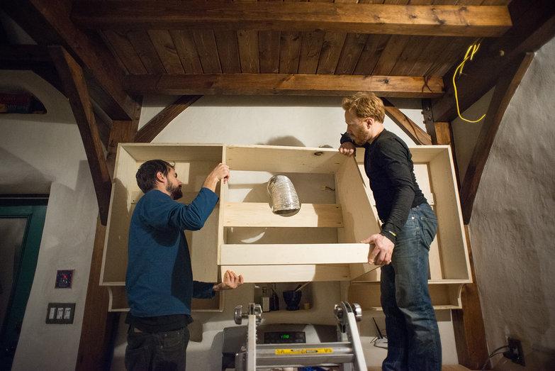 Lian & Tyler Test-Fitting Range Hood Cabinet
