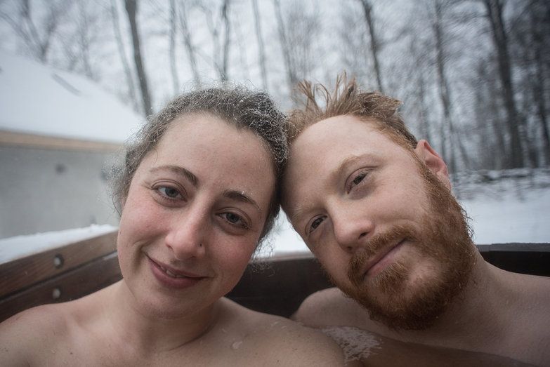Us in Hot Tub