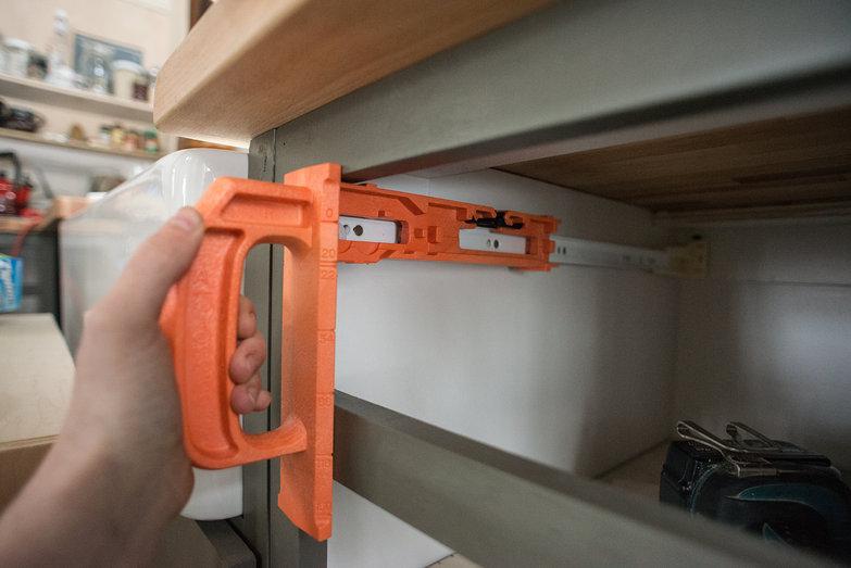 Installing Blum Tandem Drawer Slides in Kitchen Cabinet