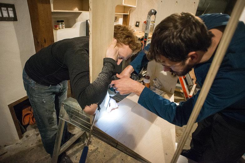 Tyler & Lian Building  Range Hood Cabinet