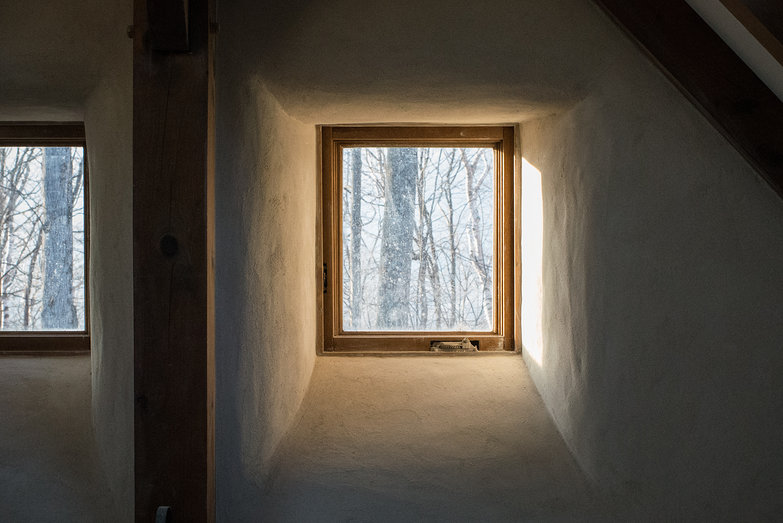 Gorgeous Light in Straw Bale Cottage Window Reveal