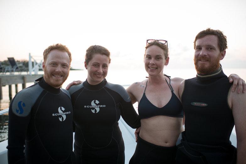 Us Before Night Scuba Dive