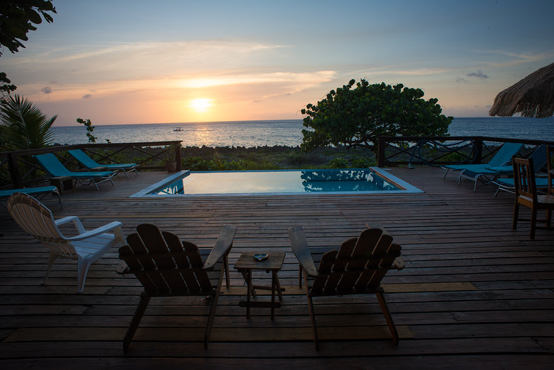 Sunset From Coco Lobo in Roatan, Honduras