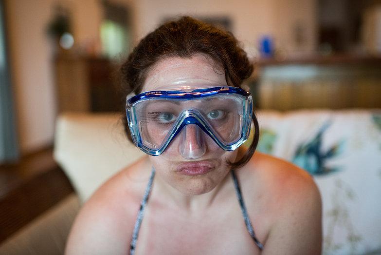 Tara Testing Scuba Mask