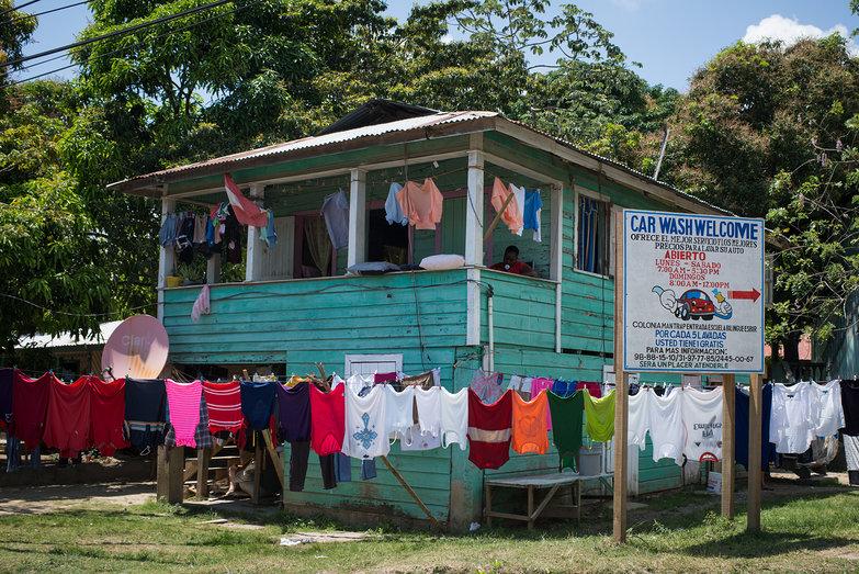 Laundry Line & Blue House