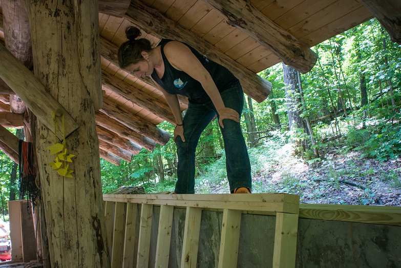 Tara About to Raise Grindbygg Wall Framing