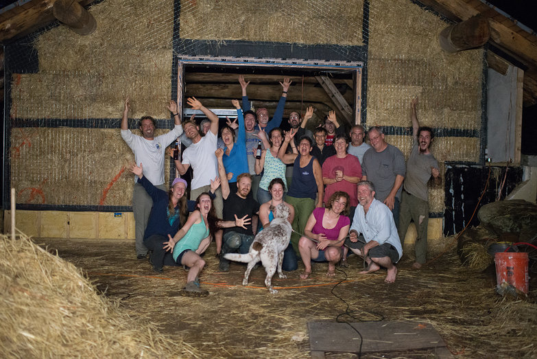 Strawbale Workshop Team! (Goofy Photo)