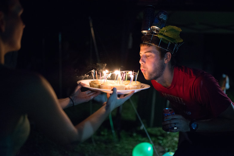 Dan Blowing Out Birthday Candles