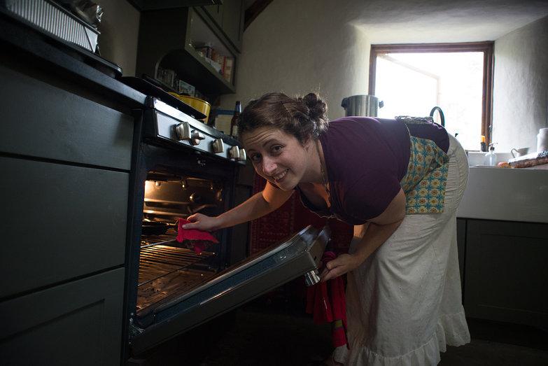 Tara Baking Cookies