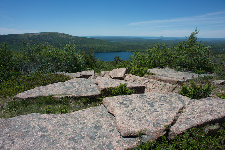 Acadia National Park View from Near the Summit of Cadillac Mountain