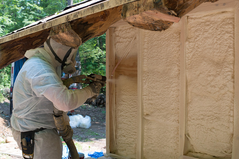 Vermont Foam Insulation Guy Spraying Foam