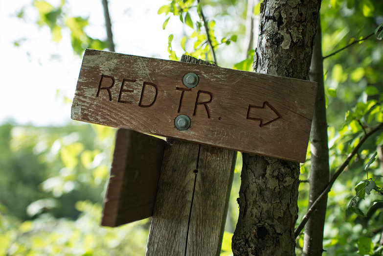 Red Trail Sign