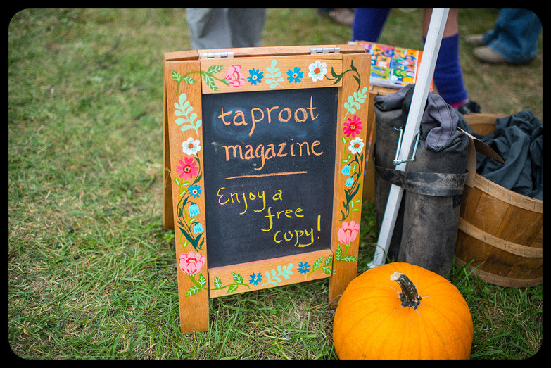 Taproot Magazine Sign