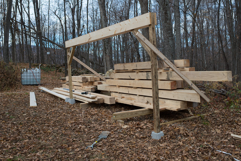 Woodshed to Cover Milled Lumber in Progress