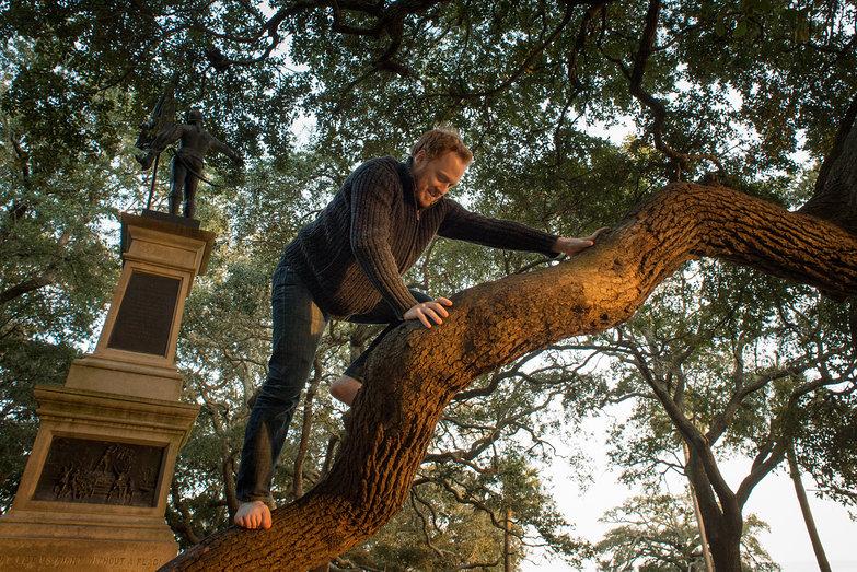 Tyler Climbing Trees at Charleston Waterfront Park