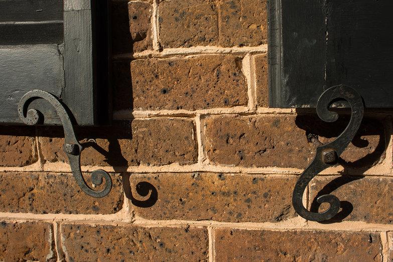 Charleston Window Shutter Dogs