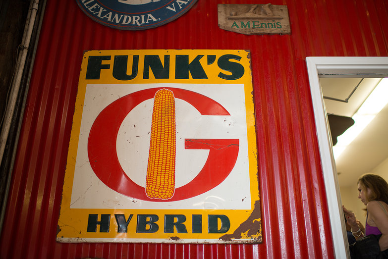 Funk's Hybrid Corn Barn Sign