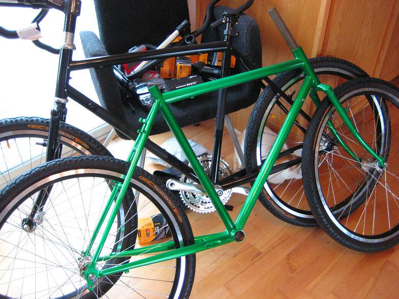 Tara's Green Bike!