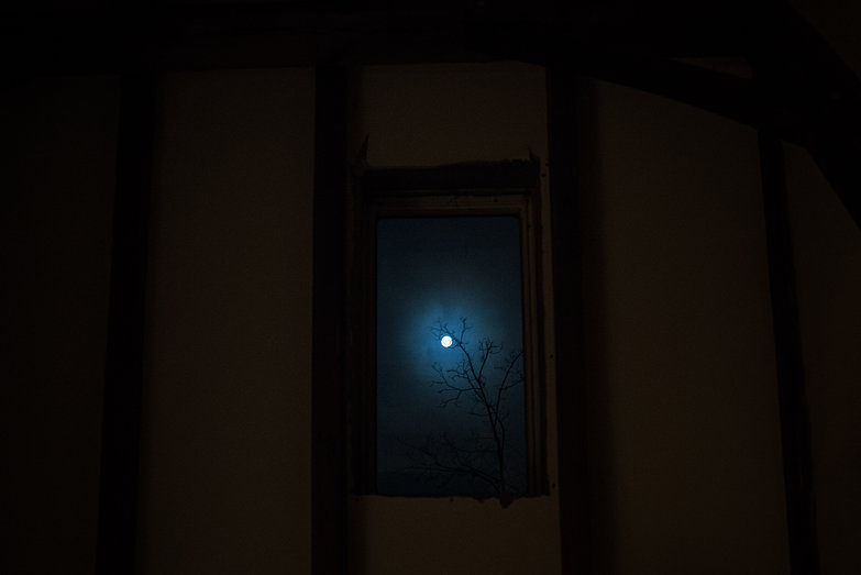 Moon Through (Un-Finished) Skylight