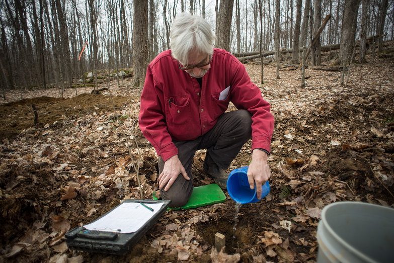 Chris & Septic System Percolation Test