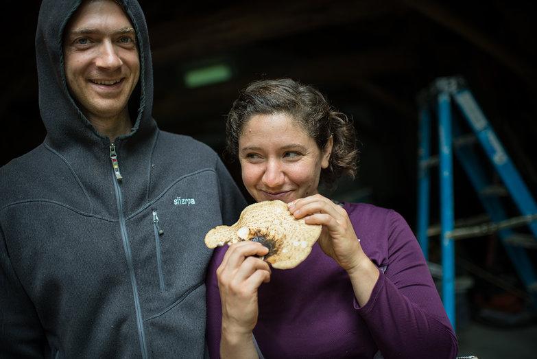 Erik & Radha with Mushroom