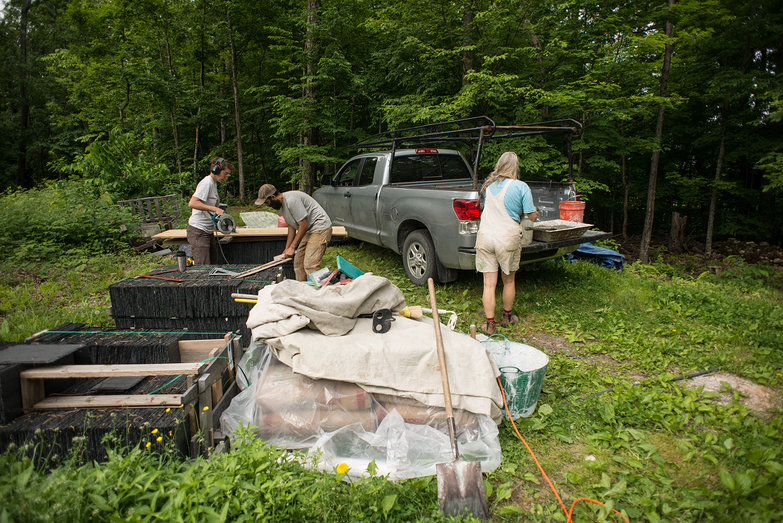 Vermont Natural Homes Prepping for Earthen Floor Application