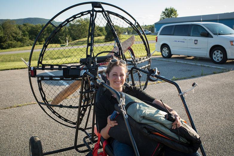 Tara in Blackhawk Lowboy 2 Quad Paramotor