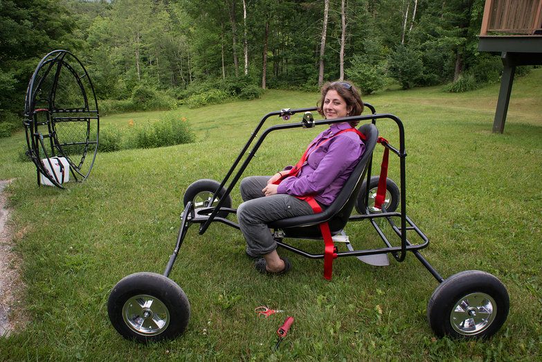 Tara in Partially-Built Paramotor Quad
