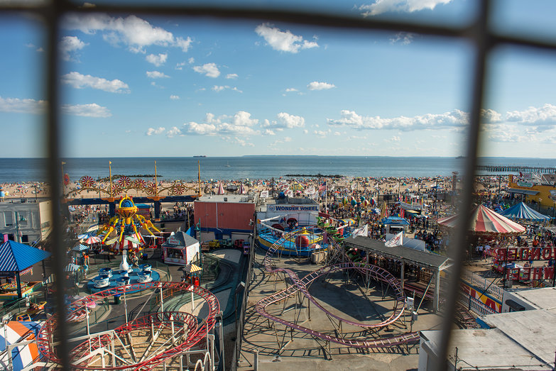 View of Coney Island from Deno's Wonder Wheel