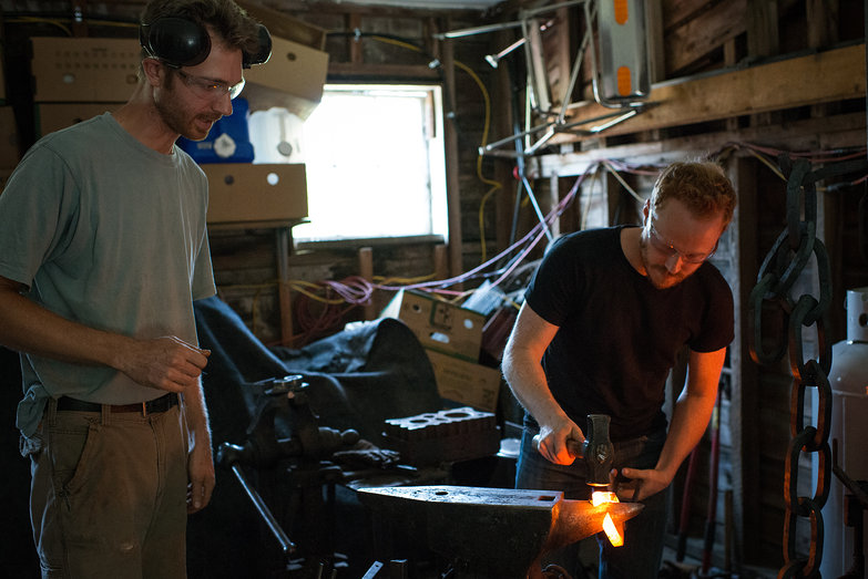 Erik & Tyler Blacksmithing Chainlink for Workshop Chain