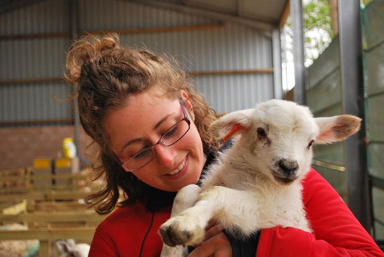 Tara with Lamb